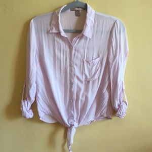 {FOREVER 21} Lilac Cropped Blouse